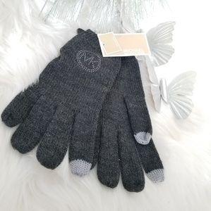 Michael Kors gray tech gloves